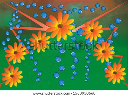 flower background image, illustration image