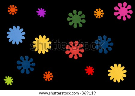 Flower background (wooden painted flowers)