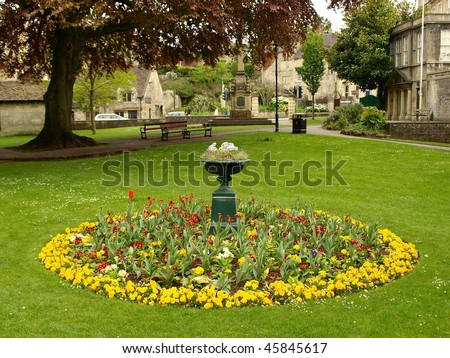 Flower Bed in a Garden