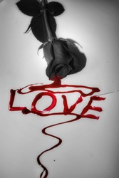 Flower bleeding spelling red love