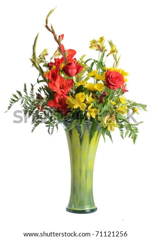 Flower bouquet isolated on a white background