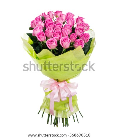Flower bouquet of pink roses #568690510