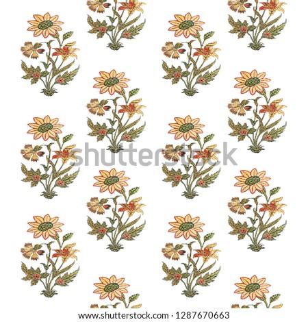 flower buti print Zdjęcia stock ©