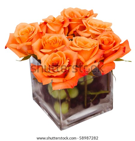 Flower centerpiece isolated on white