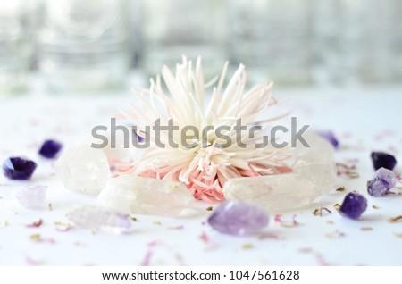 Flower Circle Mandala Spring Bright Crystal Circle #1047561628