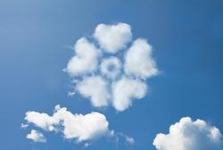 Flower Cloud shape form.