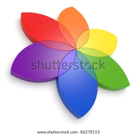 Flower Color Wheel 3D - See my portfolio for more color wheels.