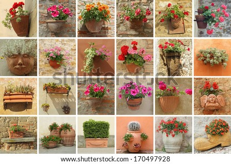 flower containers collection, Italy