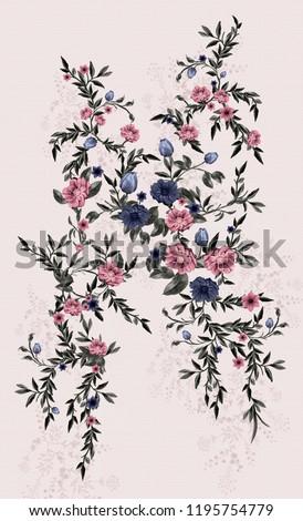 flower, dashboard, leaf, pattern, textile, design, art, ethnic, marbling art, navy, leaf, score, polka dots #1195754779