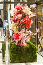 Flower decoration during famous Macy's Annual Flower Show at the Macy's Herald Square in midtown Manhattan