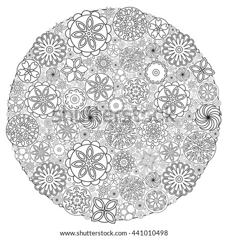Colouring Book For Grown Up Flower Design Coloring An Adult