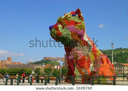Flower dog from Bibao