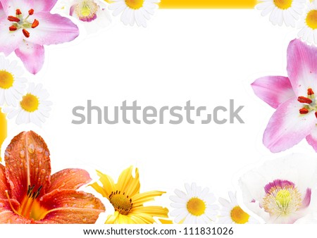 Flower frame or border ready for your message.