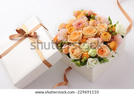 flower gift on a white background