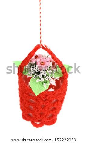 Flower in a basket.