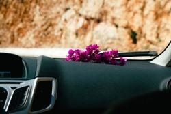 Flower in car