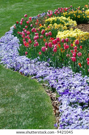 Flower landscaping border