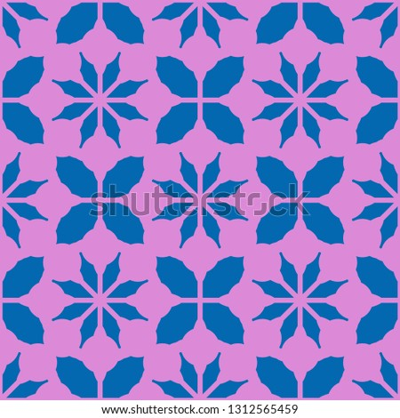 Flower leaf abstract background multicolor seamless pattern.