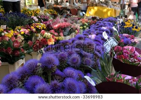 Flower market in Provence