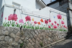 Flower Mural from Ewha Mural Village