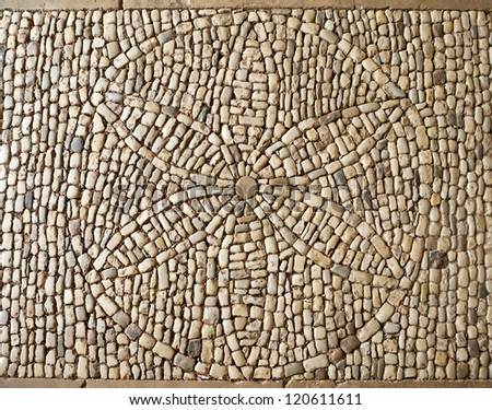 Flower of Life symbol mosaic, Hautefort castle, France