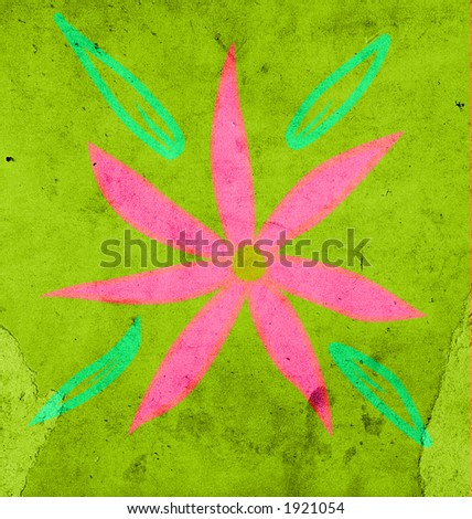 flower on grungy green background. visit my gallery and see all the series!