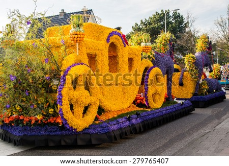 Flower parade Bloemencorso in Netherlands