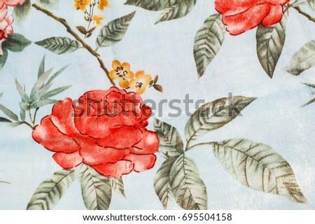 flower pattern silk pattern #695504158