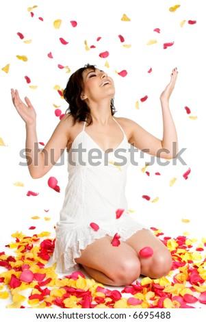 Flower Petals Woman