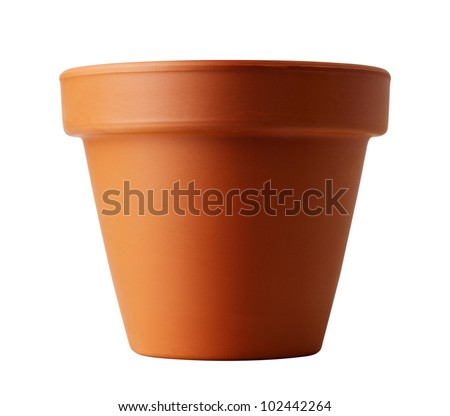 flower pot isolated on white 商業照片 ©