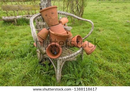 Flower pot man Amisfield garden East Lothian Scotland. #1388118617 & Flower-pot-men Images and Stock Photos - Avopix.com