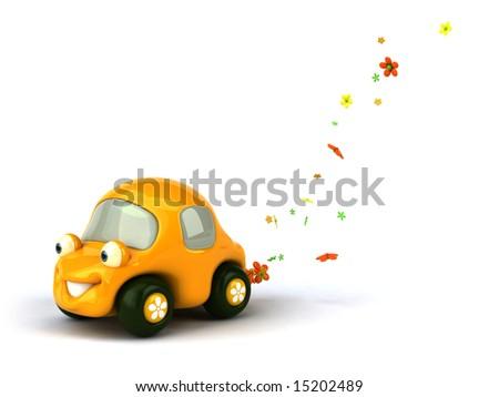 Flower power car