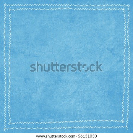 Flower Power Collection Blue Texture Background with Stitching