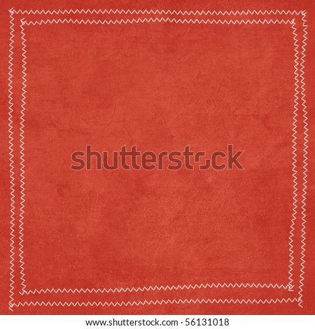 Flower Power Collection Red Texture Background with Stitching