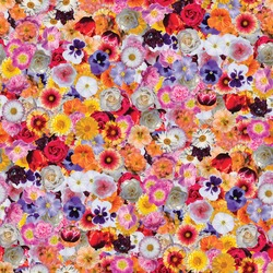 flower print collage, seamless multi-colored flower pattern. delicate flowers of different sizes and colors. decorative elements for design and creativity