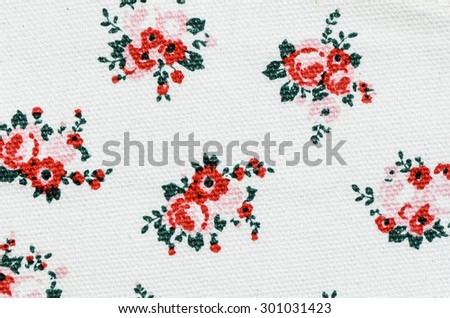 Flower prints on white canvas background / Abstract background / Promotions on children curriculum and activities