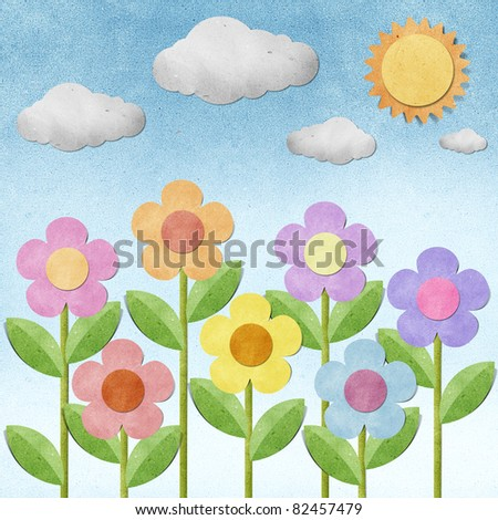 flower recycled paper background