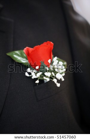 flower rose boutonniere for the male
