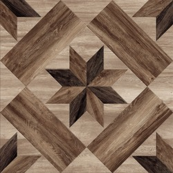 Flower shape pattern decorative floor and wall wooden tile