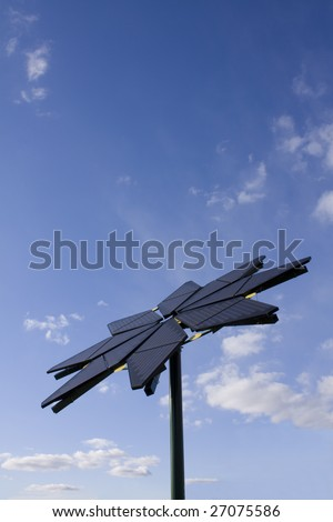 Flower shaped solar panel