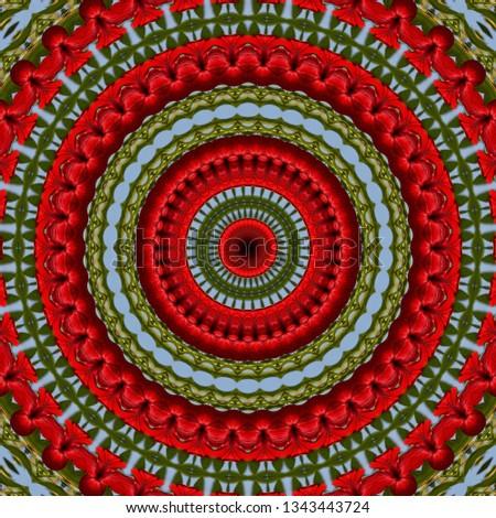 flower summer floral seamless pattern kalamkari background. print foliage.