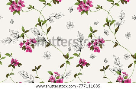 flowered textile pattern
