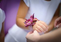 Flowergirl's flower bracelet
