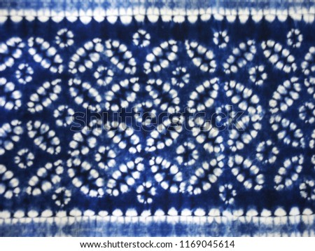 Flowering pattern of the blue and white textile. #1169045614
