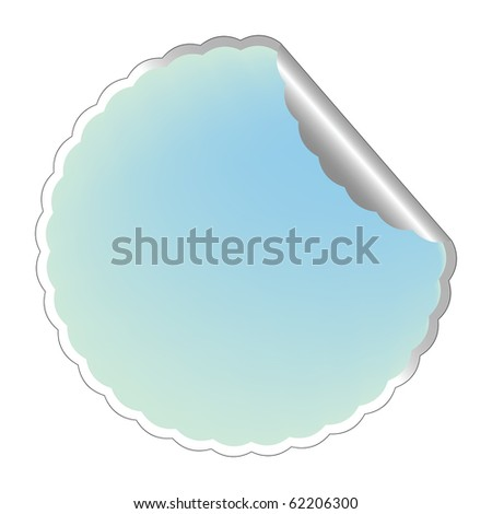 flowerish blue label, abstract art illustration; for vector format please visit my gallery
