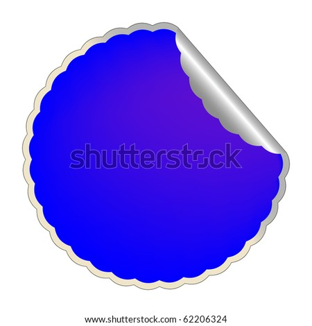 flowerish blue label,abstract art illustration; for vector format please visit my gallery