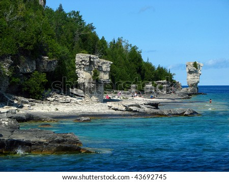 Flowerpot Island in Georgian Bay