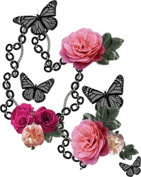 flowers  and butterfly design