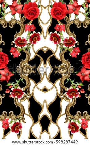 flowers and chain background #598287449
