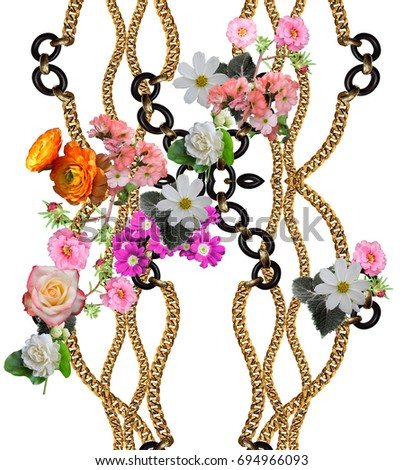 flowers  chain background #694966093